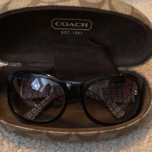 Coach sunglasses with crystal butterfly